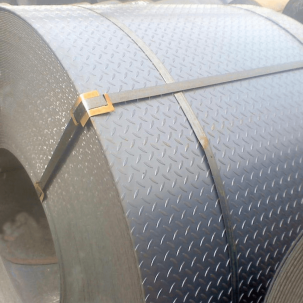Hot-rolled checker steel